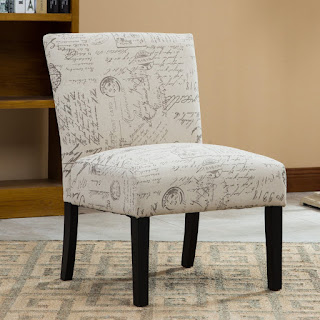 French Script Chairs Amp Print Accent Furniture Pieces