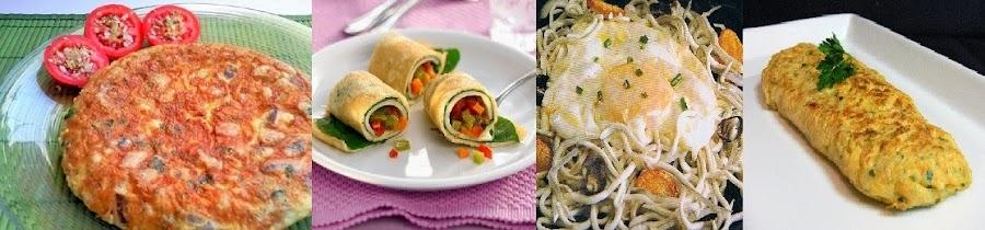 Huevos, revueltos y tortillas