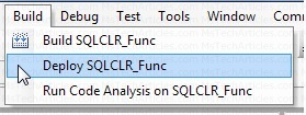 Deploy C# CLR Function to SQL Server