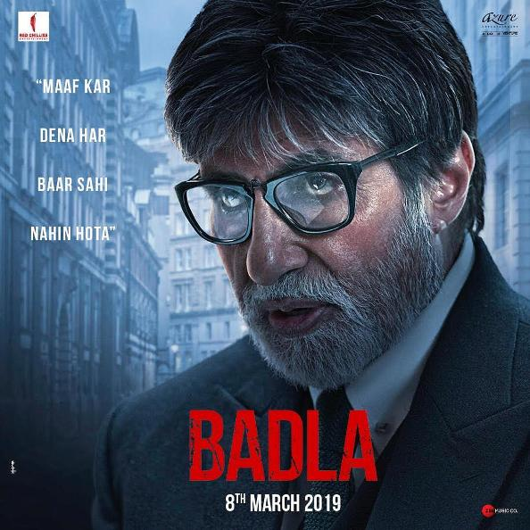 Badla new upcoming movie first look, Poster of Amitabh, Taapsee next movie download first look Poster, release date