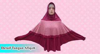 Grosir jilbab tangan murah model afiqoh