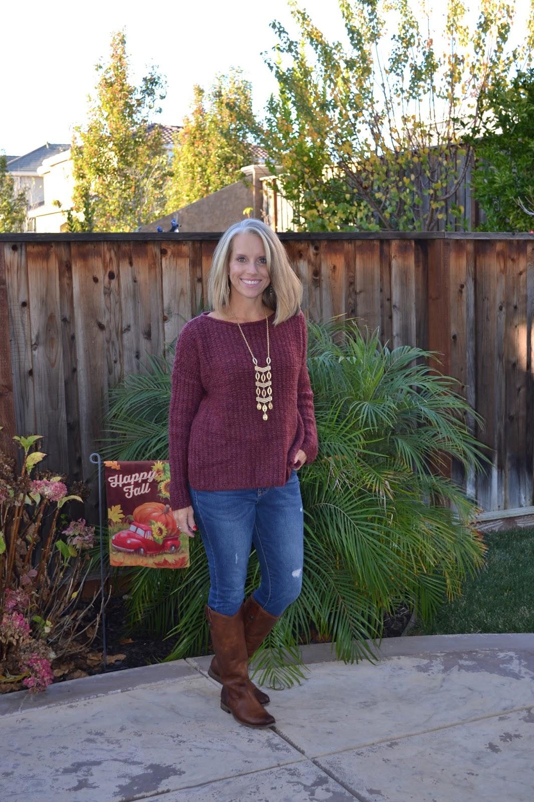 Burgundy Lou & Gray Sweater and LOFT Sale