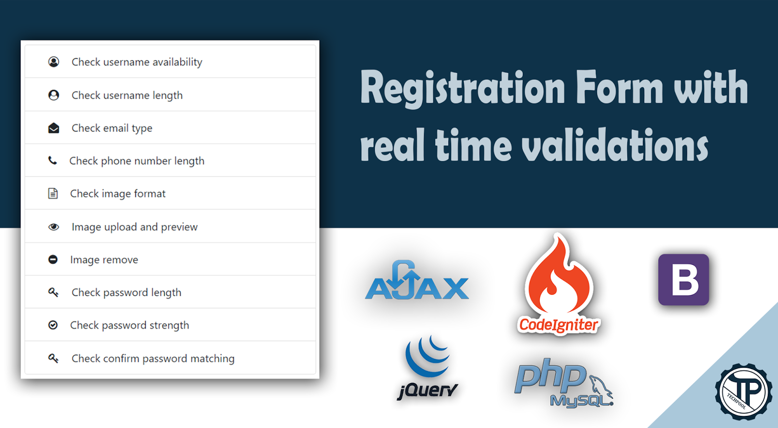Registration Form with real time validations