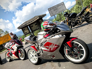 Tigh Loughhead on the Cherohala Skyway with Ducati Bimota and MV Agusta Motorcycles