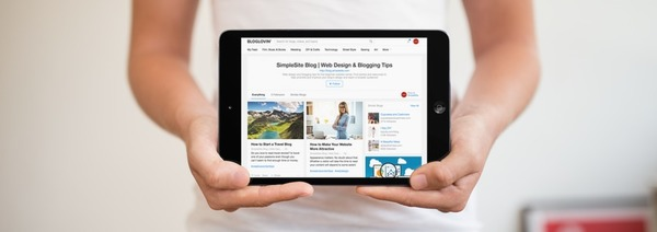 Bloglovin' tablet weergave blogs