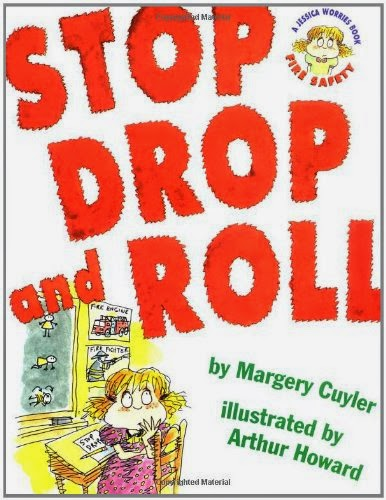 stop drop and roll fire safety book