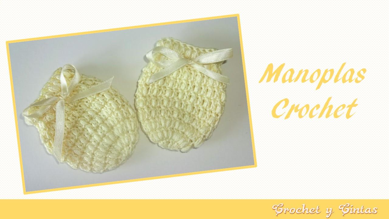 Manoplas – mitones tejidos a crochet para bebés ~ Crochet y Cintas 1c1491c4814