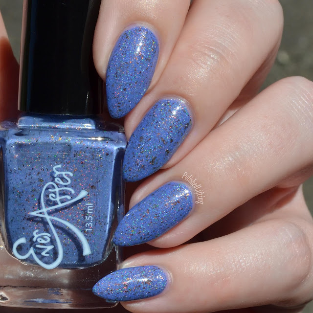 blue shimmery nail polish