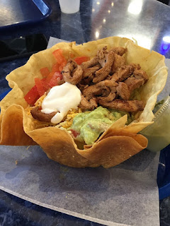 Super Tostada with Beef, Lettuce, Tomato, Sour Cream, Guacamole