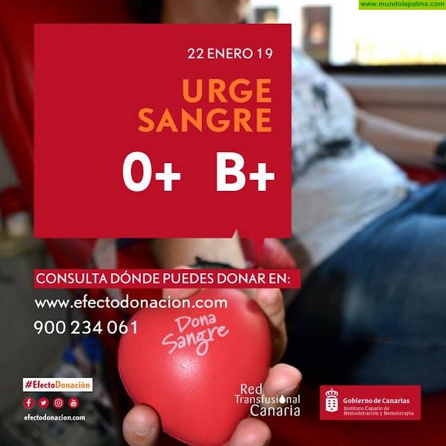El ICHH llama a los ciudadanos de los grupos sanguíneos 0 y B positivo a donar sangre
