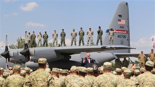 North Atlantic Treaty Organization on massive military drills in Georgia near Russia