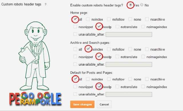 cara terampuh setting custom robots header tags untuk seo blogger