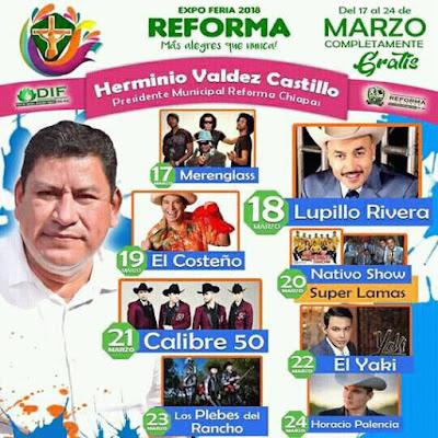expo feria reforma 2018 chiapas