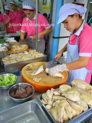 Thai Chicken Rice in Bangkok Raan Kaithong Pratunam