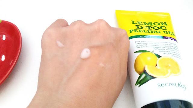 peeling gel, a little goes a long way