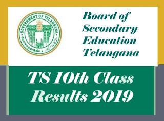TS 10th 2019 Results, TS SSC 2019 Results, TS 10th Result 2019, TS SSC Result 2019