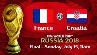 Susunan Pemain Prancis vs Kroasia