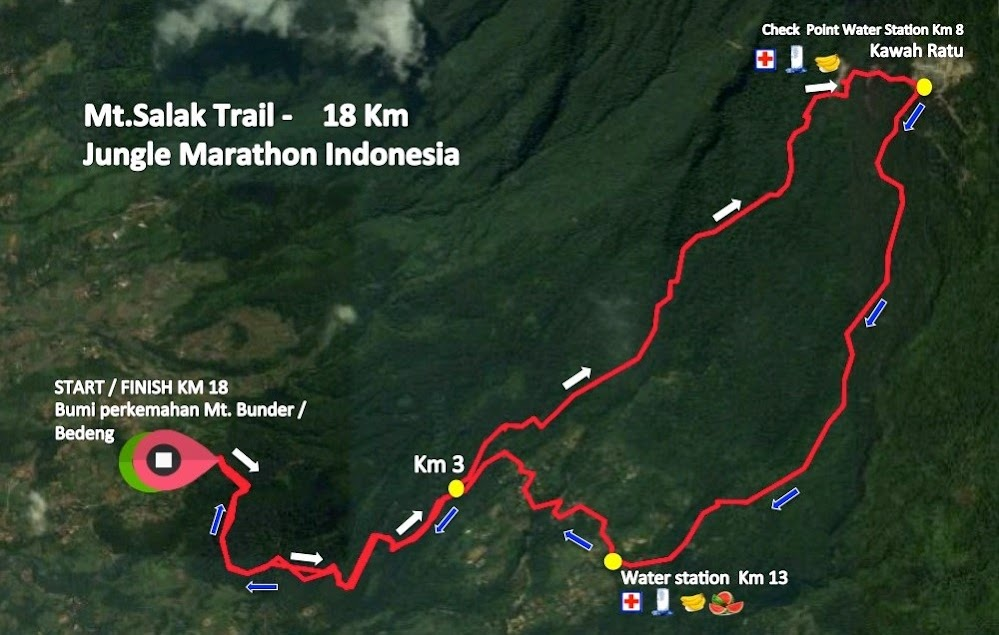 Mt. Salak Trail 18K Route 2018