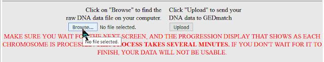 find raw data for GEDmatch