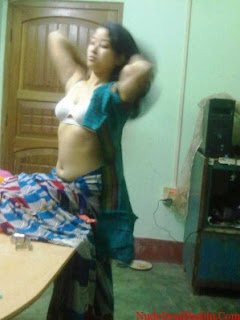 Indian Wife Removing Saree Blouse and Bra Video Without Clothes