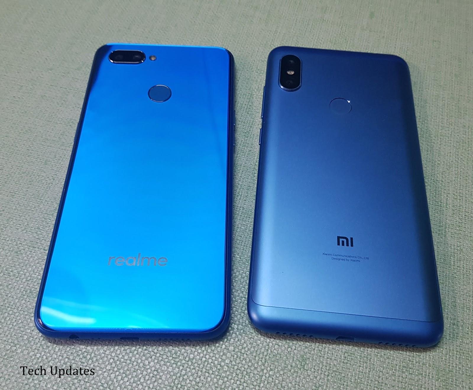 Realme U1 vs Xiaomi Redmi Note 6 Pro : Design, Camera