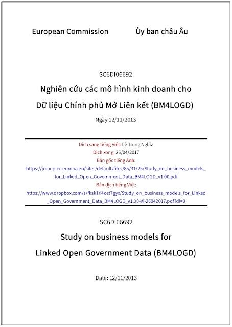 'Nghiên cứu các mô hình kinh doanh cho Dữ liệu Chính phủ Mở Liên kết (BM4LOGD)' - bản dịch sang tiếng Việt