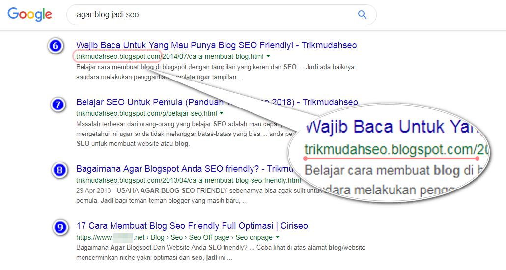 Siapa bilang subdomain blogspot tidak mampu bersaing dan muncul di mesin pencari? Ini buktinya