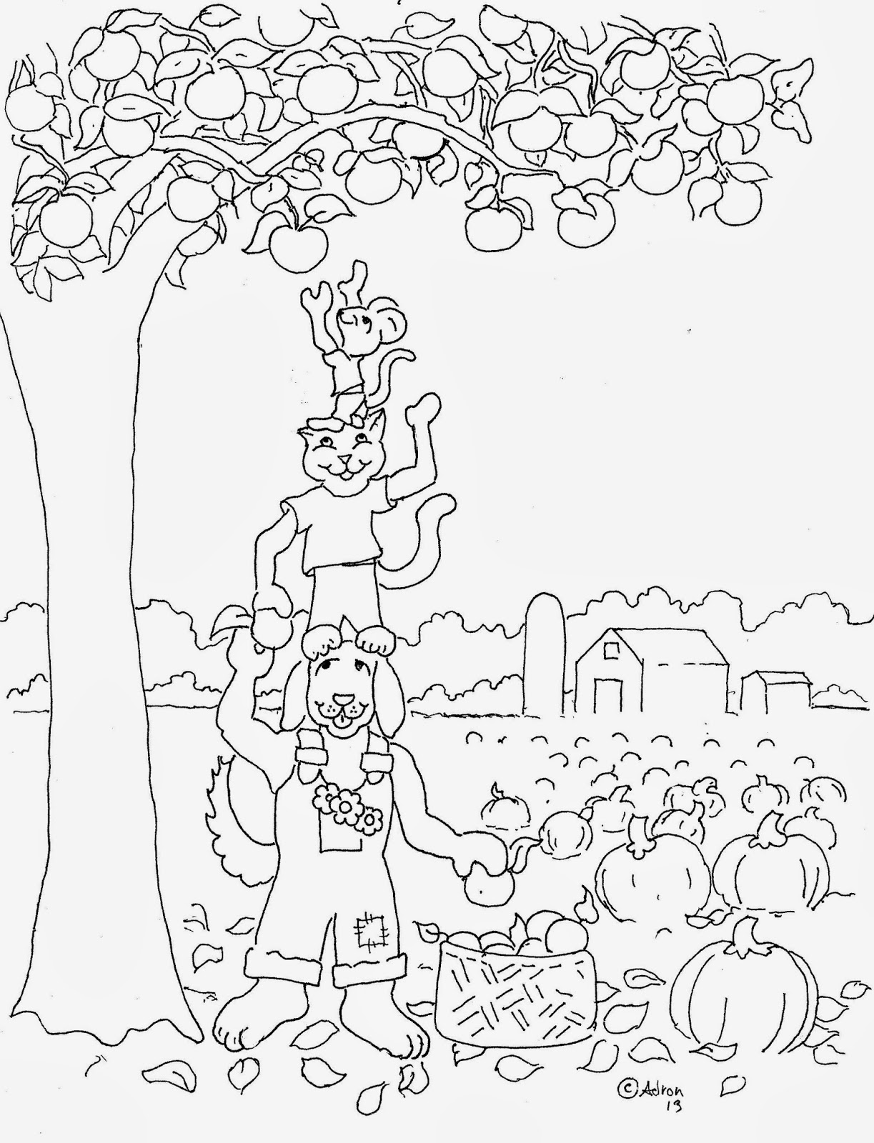 Coloring Pages For Kids By Mr Adron Autumn Harvest Free