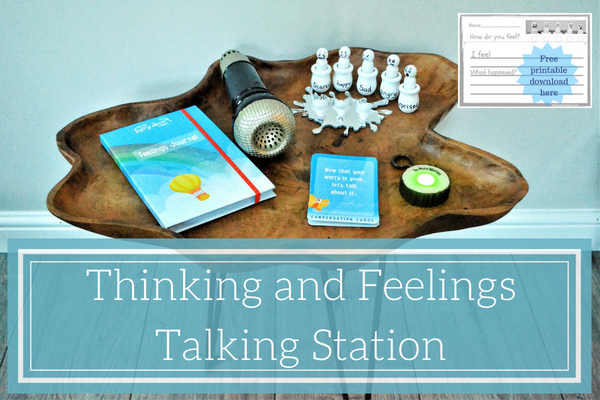 Thinking and Feelings Talking Station Provision area free printable