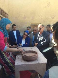 زياره طارئة اليوم لمحافظ الفيوم ووزيرة البيئه.