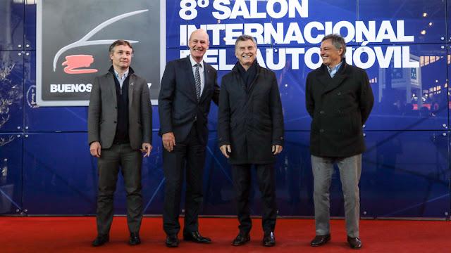 El presidente Macri visitó el #SalonAutoBA en La Rural