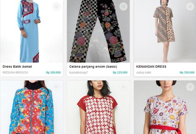 jual pakaian batik