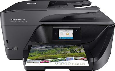 Connect a smartphone or tablet remove to the printer together with easily impress without a network HP OfficeJet Pro 6975 Driver Downloads