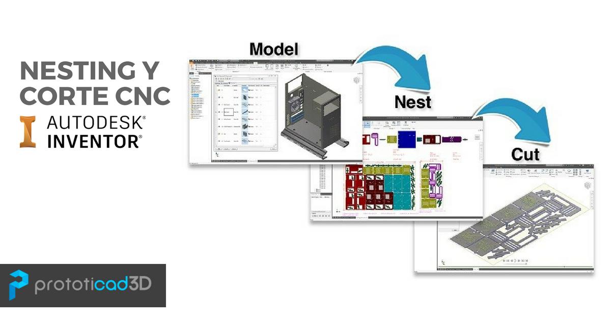 Nesting y Corte CNC en Inventor