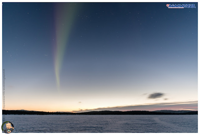 Menesjarvi aurora boreale