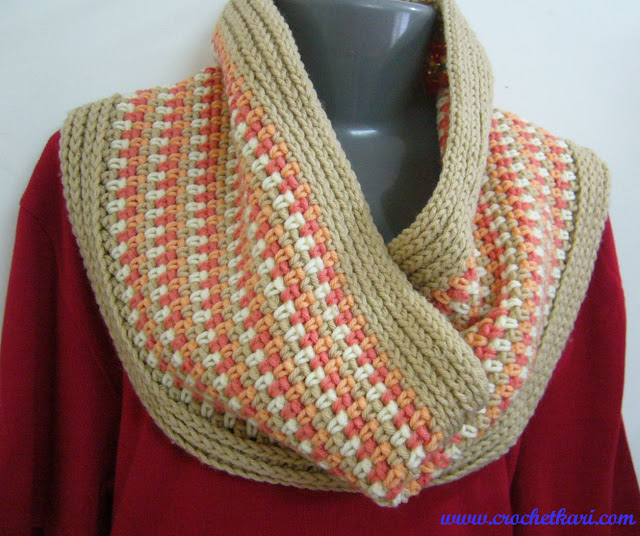Harmony cowl free crochet pattern