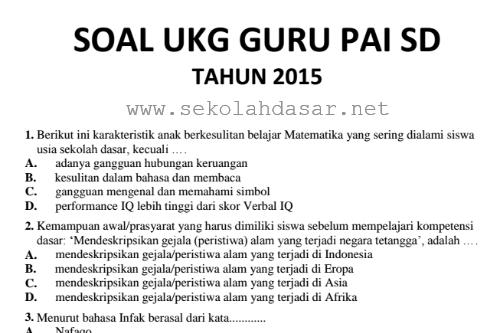 Soal Skb Pai Guru Ilmu Sosial