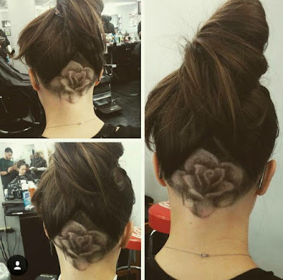 tato rambut model mawar