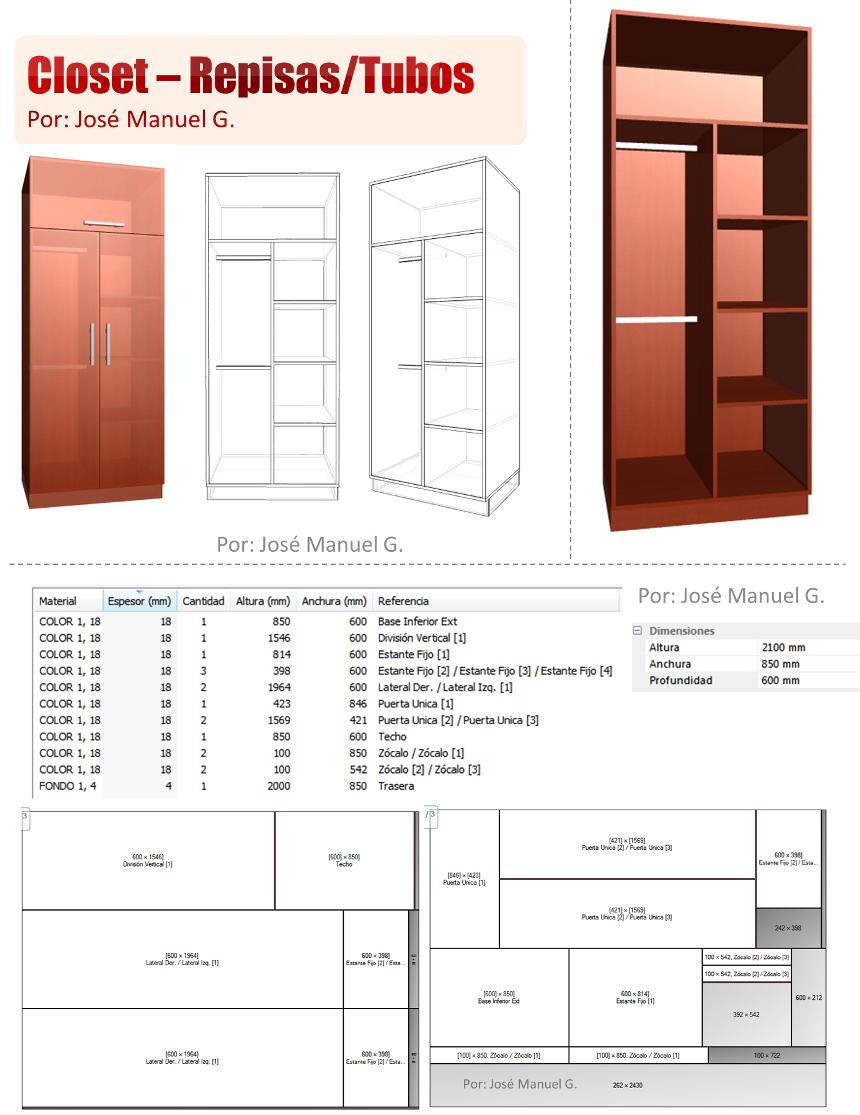 Dise o de muebles madera dise o 3d closet como hacer un for Programa para disenar closet y cocinas
