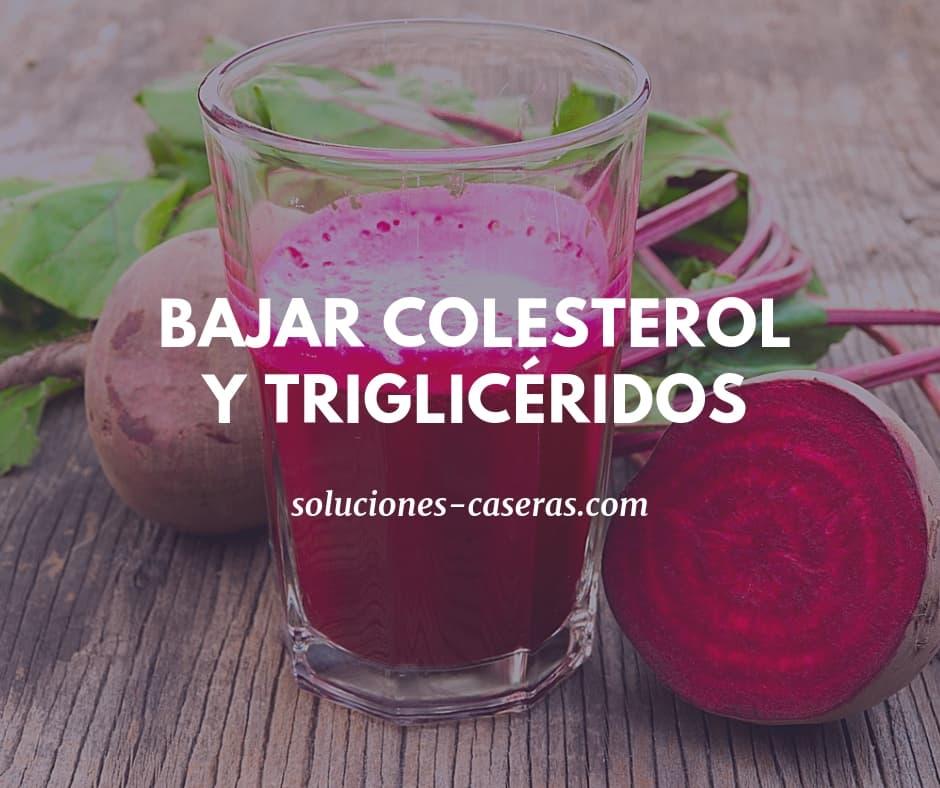 jugos para colesterol y trigliceridos altos