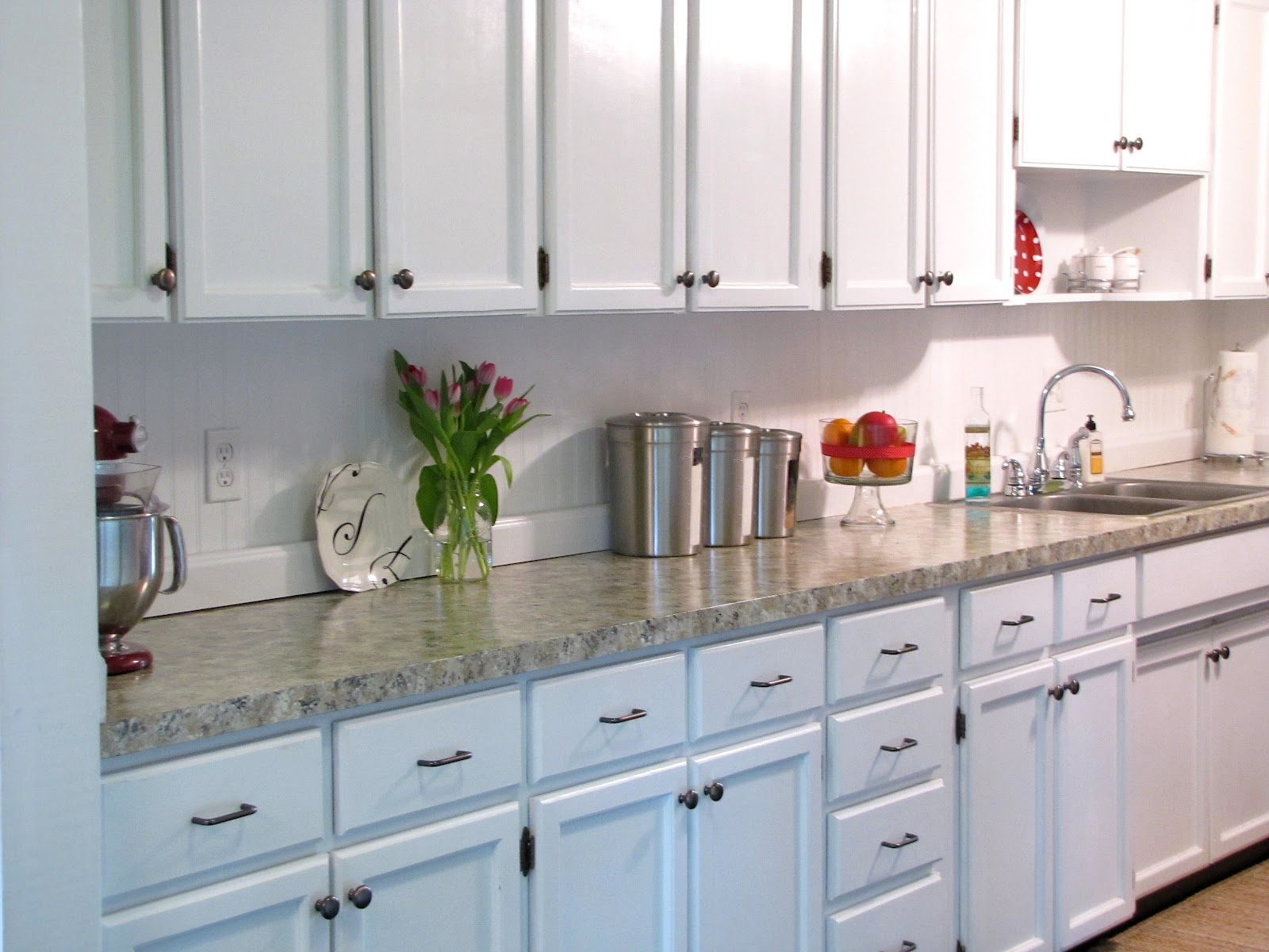 kitchen update faux granite countertops kitchen counters and backsplash Kitchen Update Faux Granite Countertops