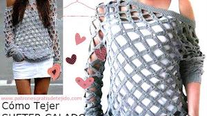 Cómo Tejer Suéter Calado a Crochet / Tutorial