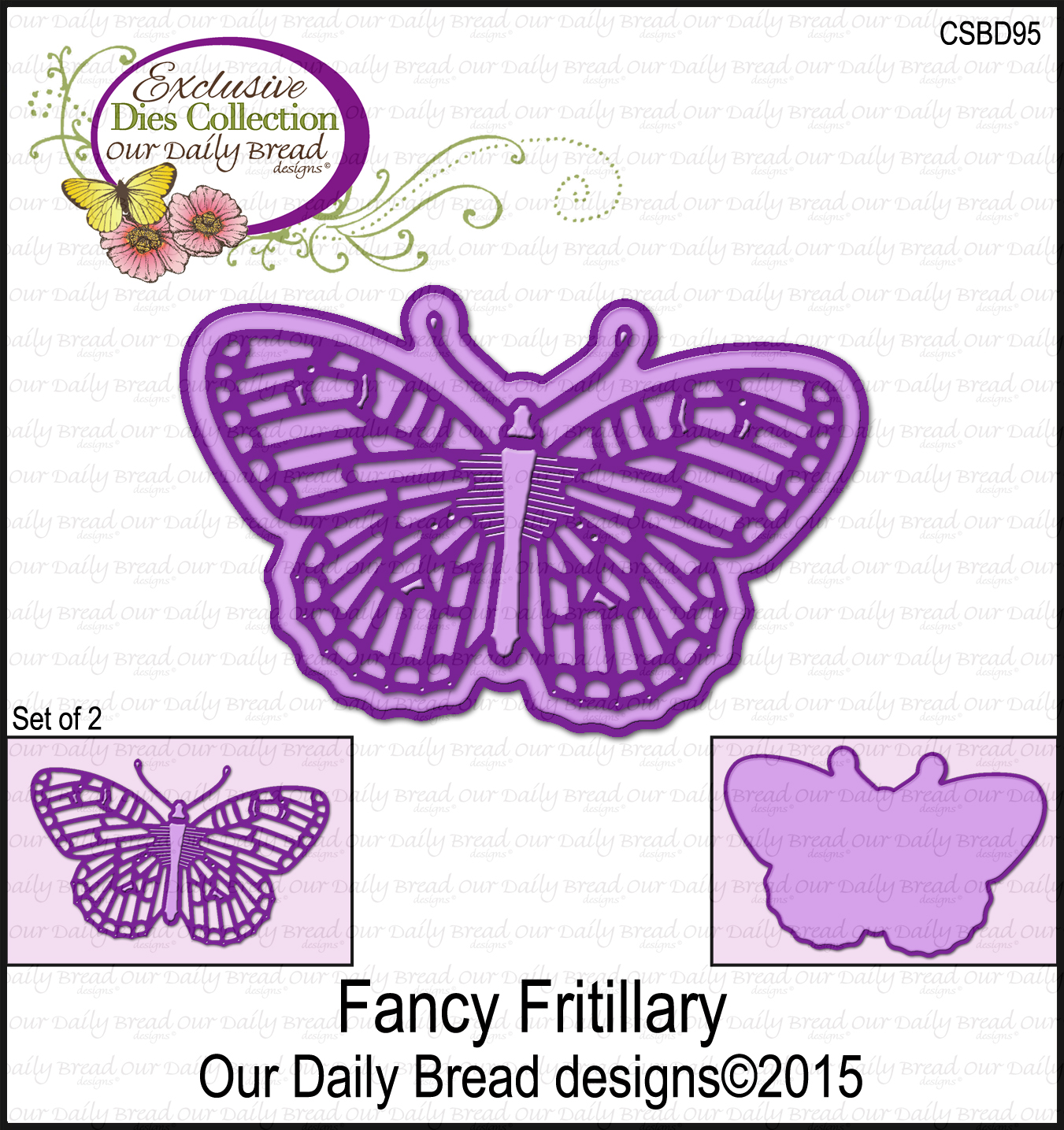 Our Daily Bread Designs Custom Fancy Fritillary Die