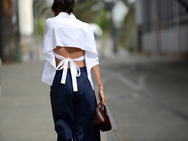 How To Style // Tie Back Shirts