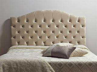 Cabecero cama de matrimonio tapizado capitone