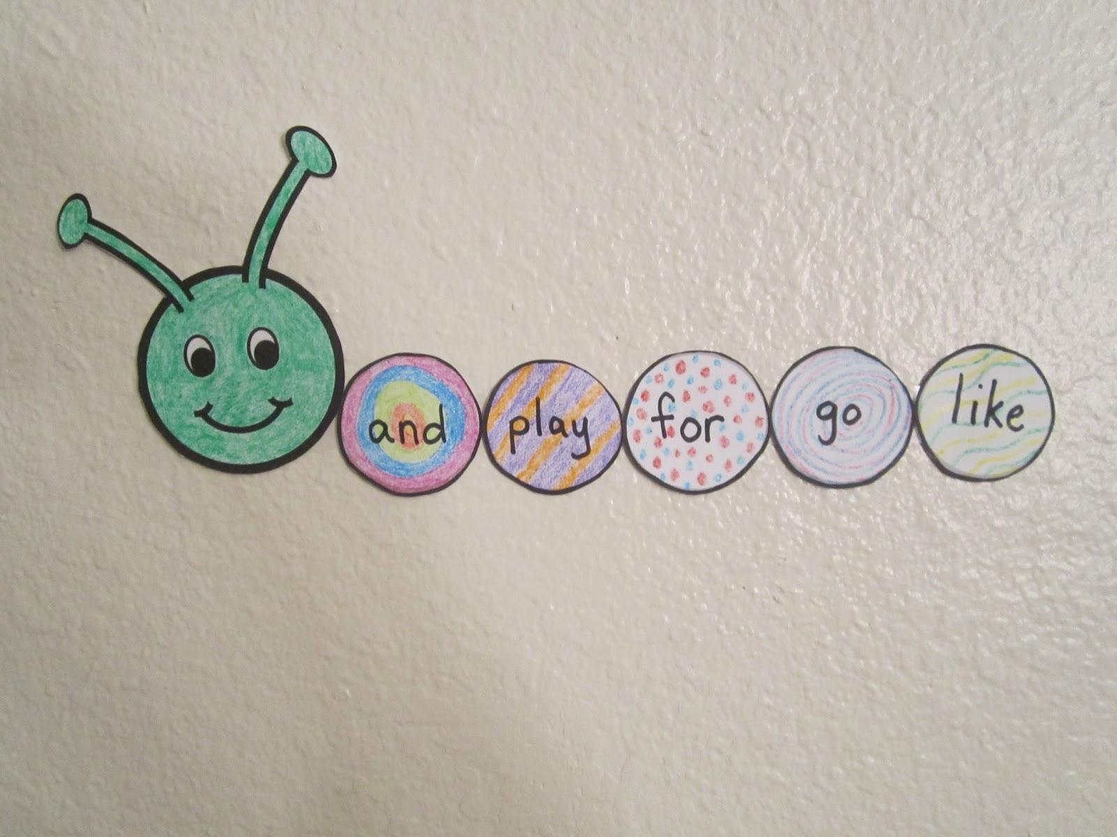 The Popcorn Reader Sight Word Caterpillar Idea 114
