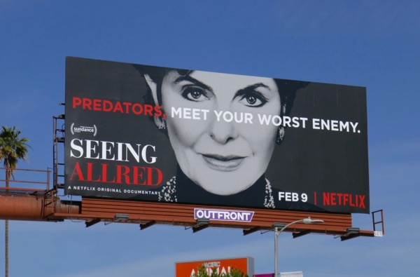 Seeing Allred Netflix documentary billboard