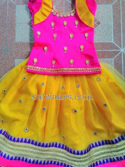 Bright Colors Kids Lehenga