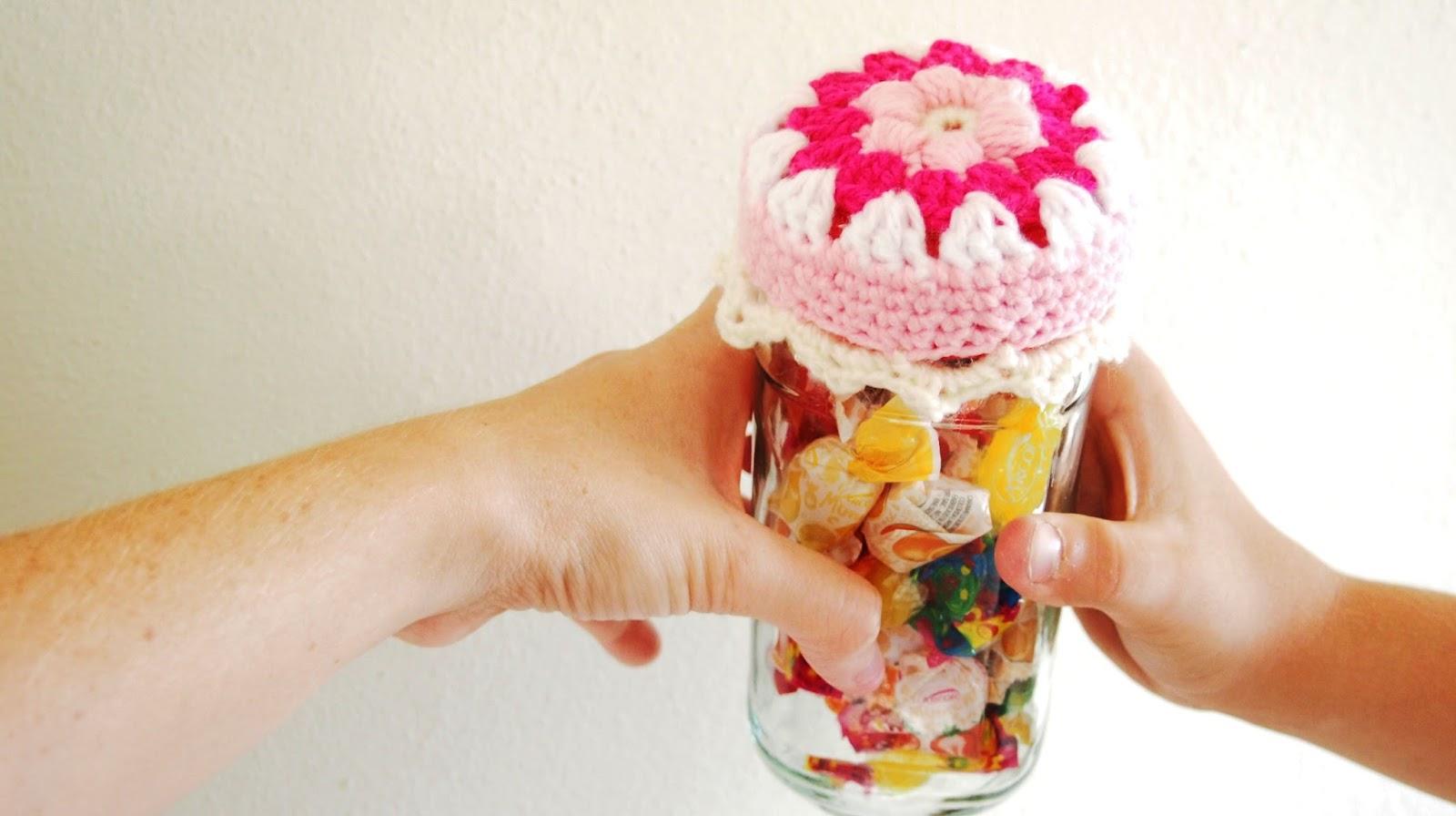 Sol De Noche Deco Crochet Crochet Jar Lid Cover Free Pattern And