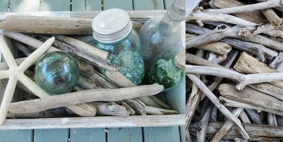 Estrellas decorativas con madera mar